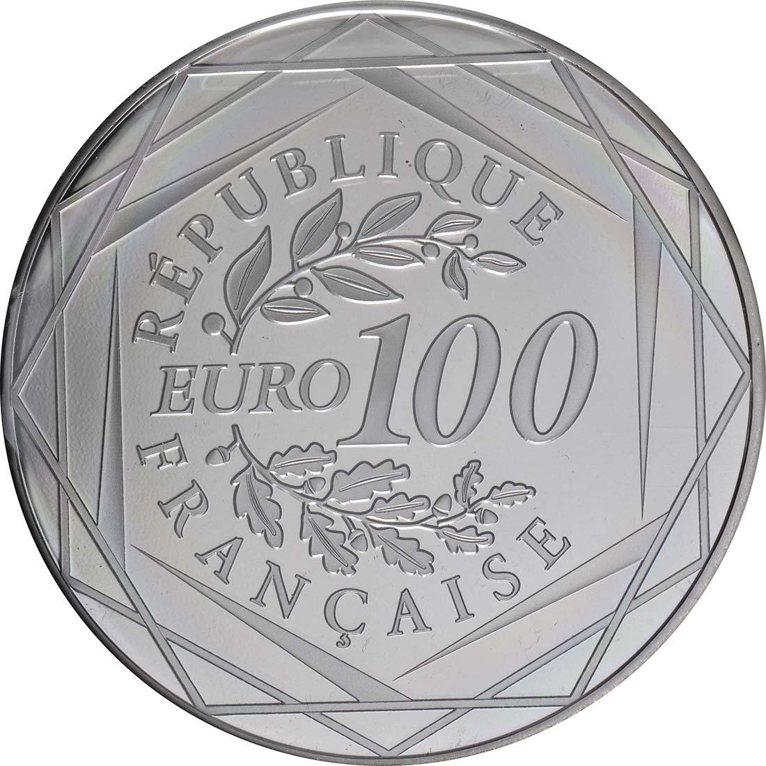 Rückseite:Frankreich : 100 Euro Marianne  2019 bfr