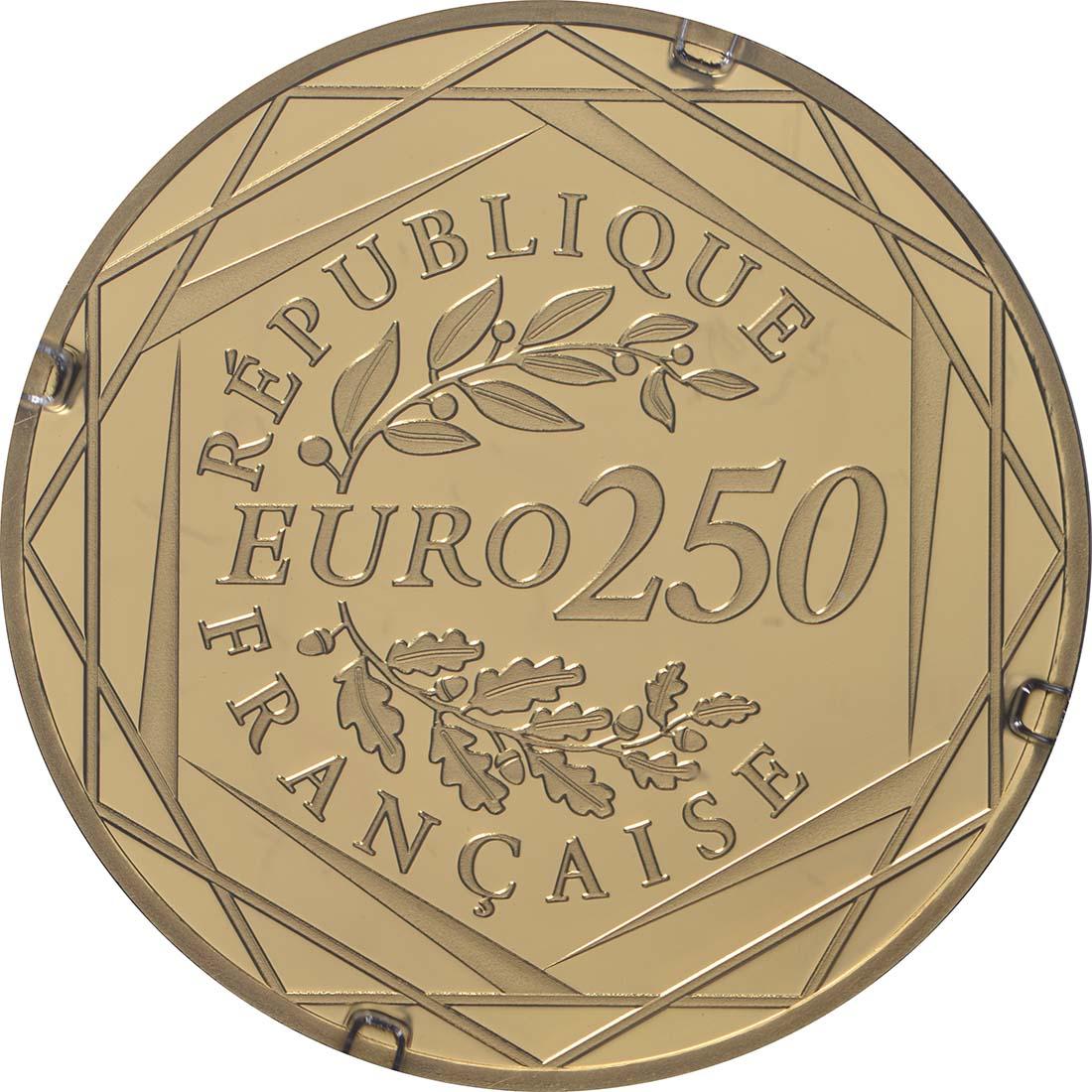 Rückseite:Frankreich : 250 Euro Marianne  2019 bfr