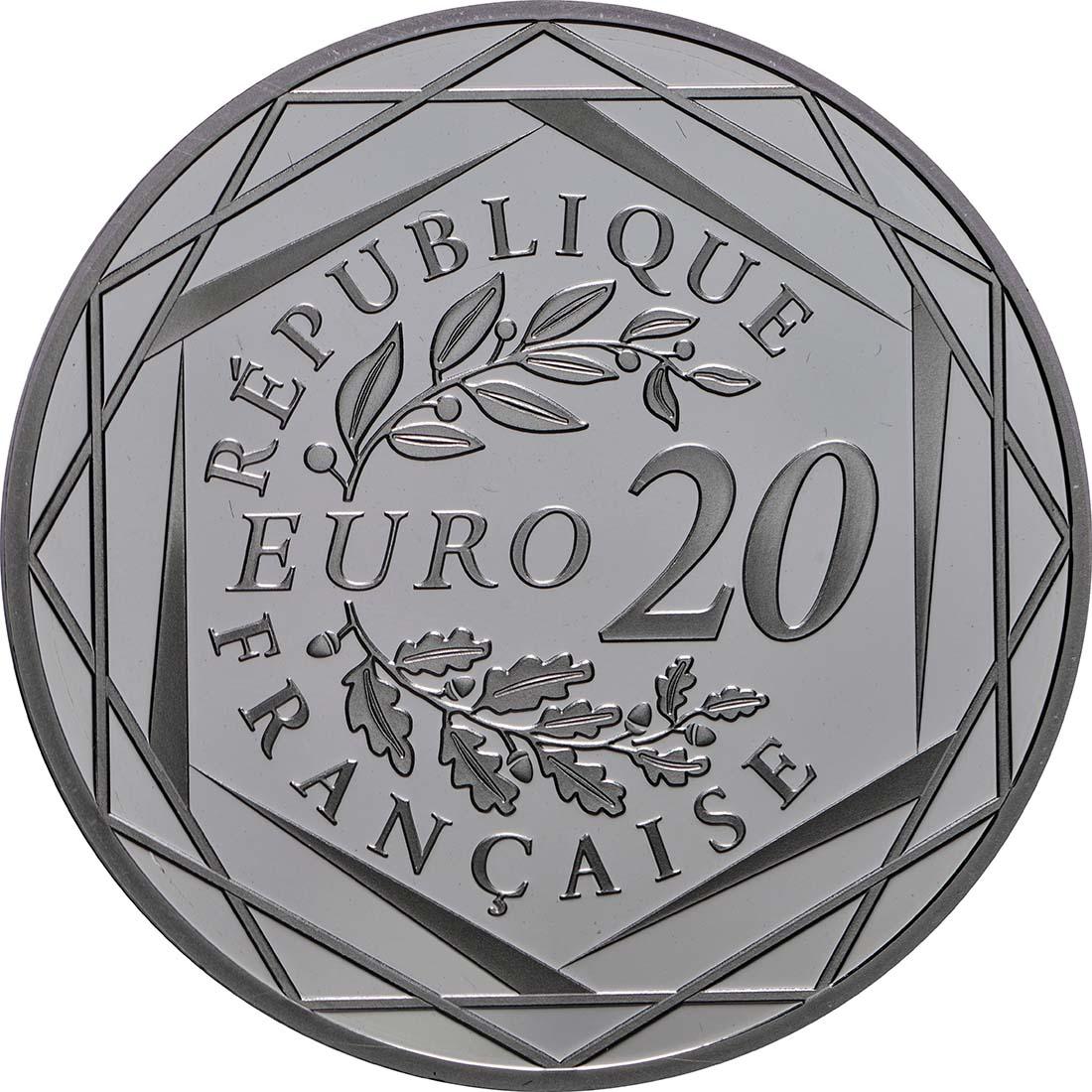 Rückseite:Frankreich : 20 Euro Marianne  2019 PP