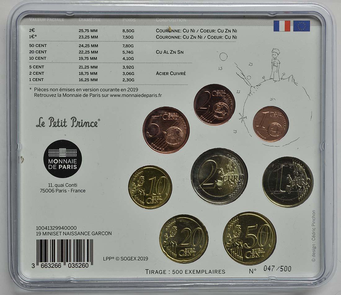 Zertifikat:Frankreich : 3,88 Euro Mini KMS Jungen  2019 bfr