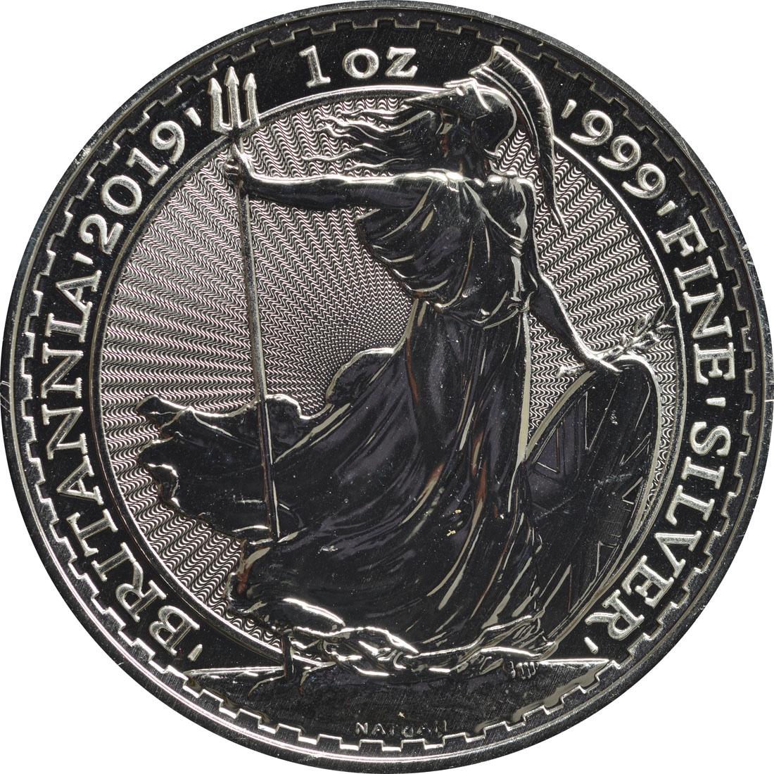 Vorderseite:Großbritannien : 2 Pfund Britannia  2019 Stgl.