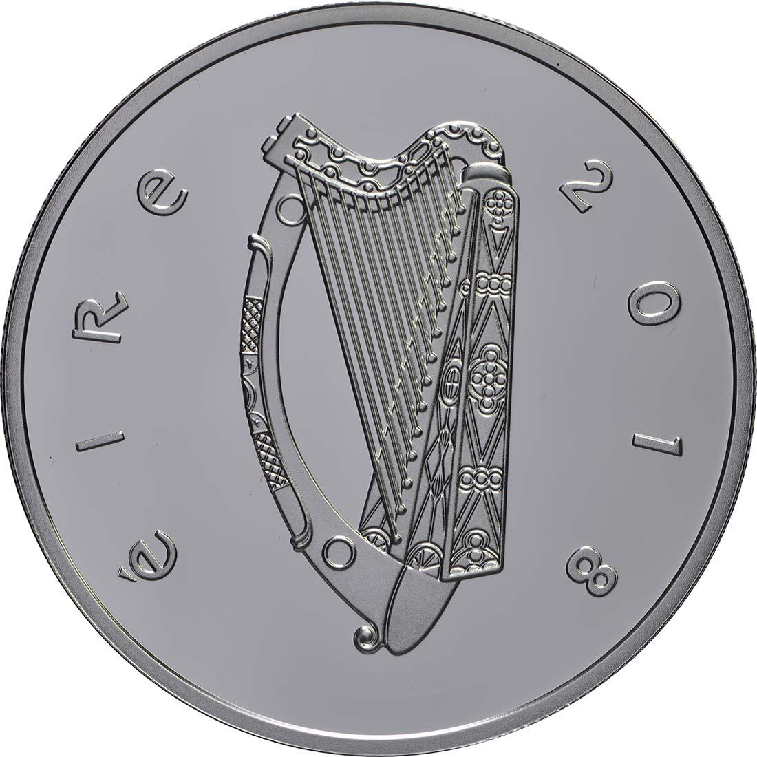 Rückseite:Irland : 15 Euro Frauenwahlrecht, coloriert  2018 PP