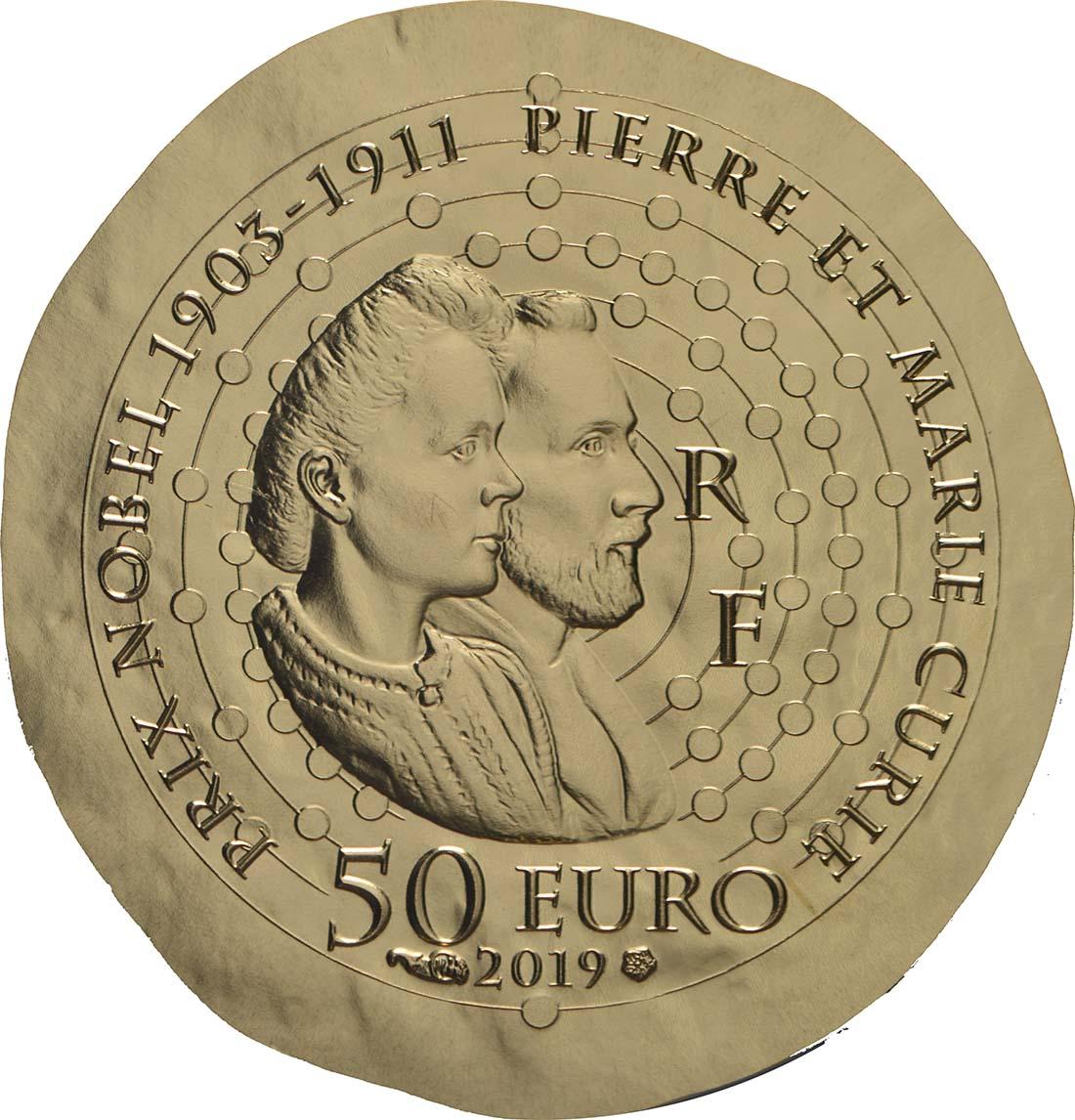 Rückseite:Frankreich : 50 Euro Marie Curie  2019 PP