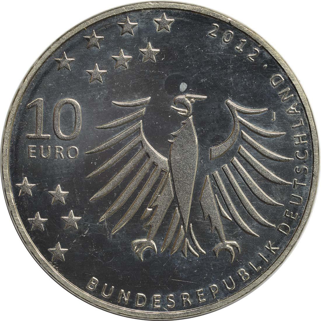 Rückseite:Deutschland : 10 Euro Gerhart Hauptmann  2012 ss/vz.