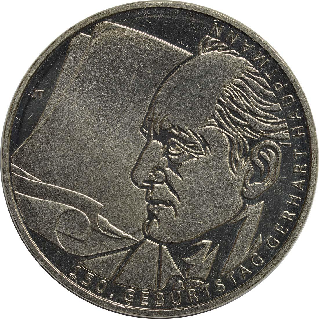 Vorderseite:Deutschland : 10 Euro Gerhart Hauptmann  2012 ss/vz.