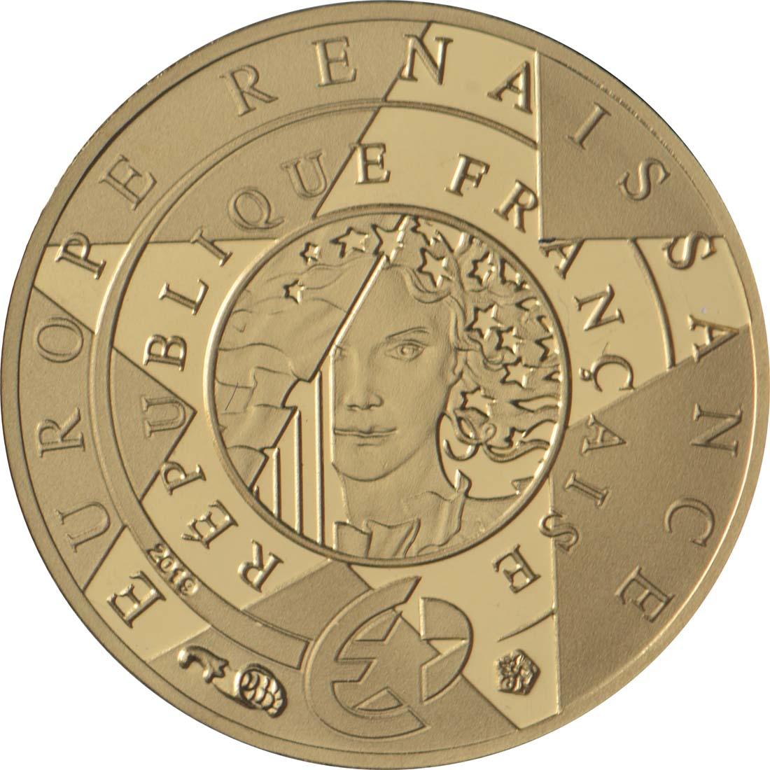Rückseite:Frankreich : 5 Euro Renaissance - Da Vinci  2019 PP