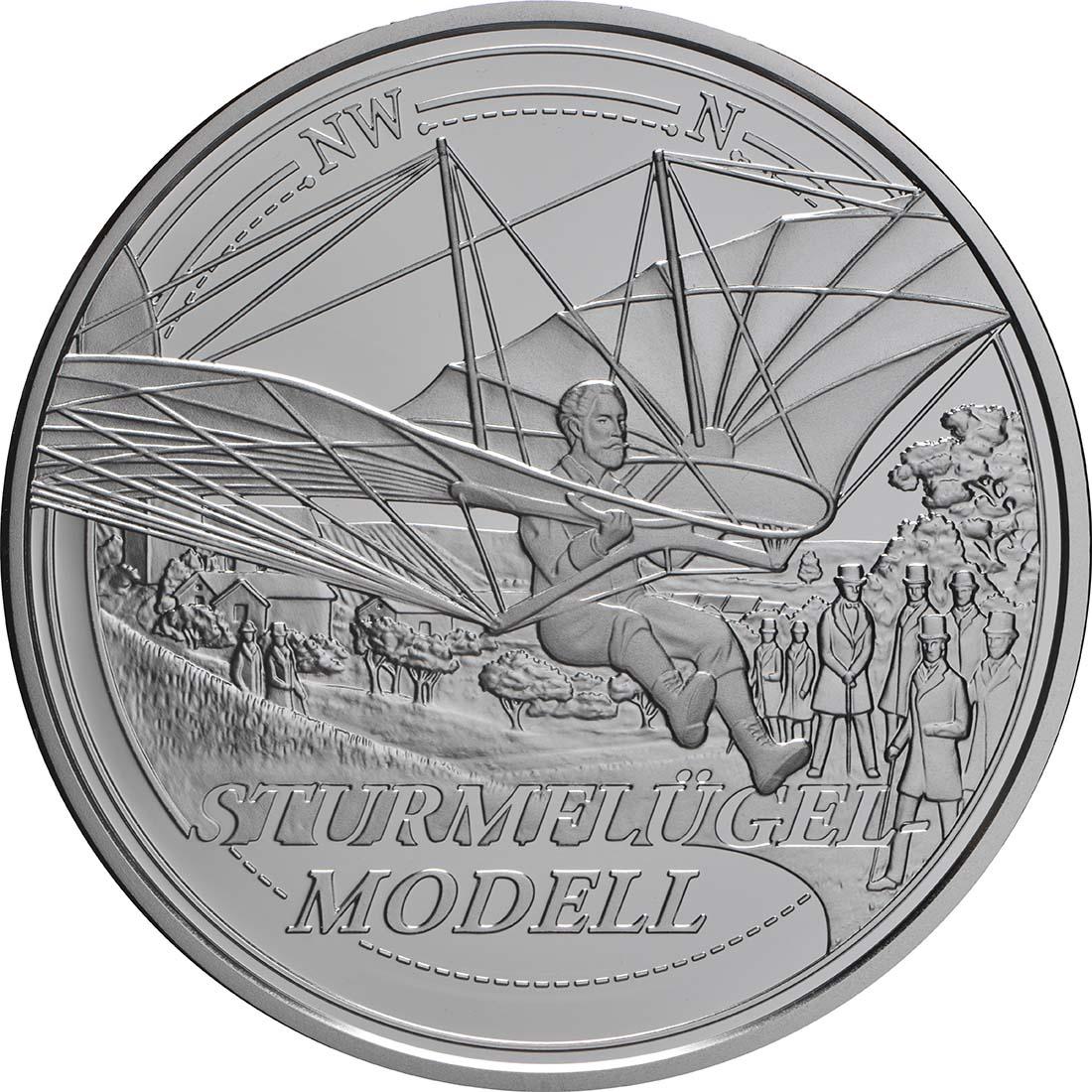 Vorderseite:Österreich : 20 Euro   Der Traum vom Fliegen   2019 PP