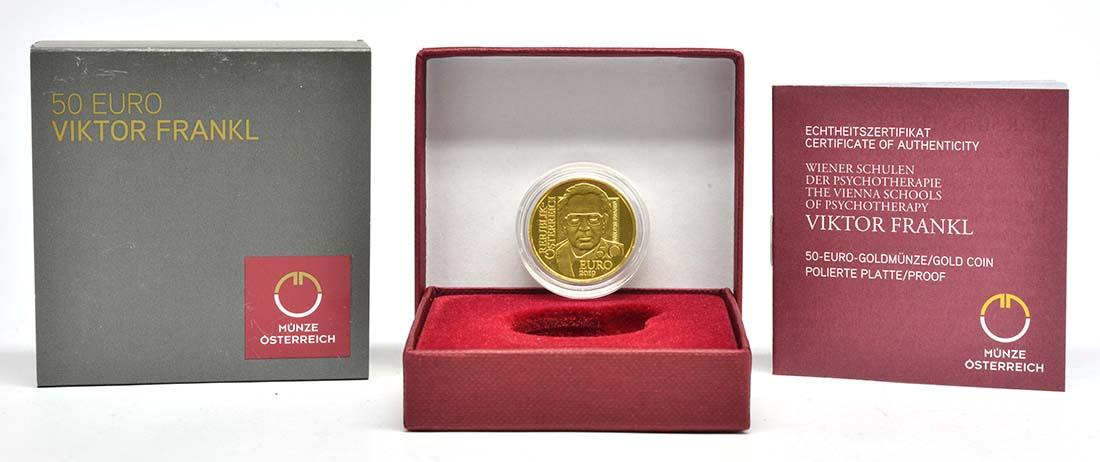 Lieferumfang:Österreich : 50 Euro Viktor Frankl  2019 PP
