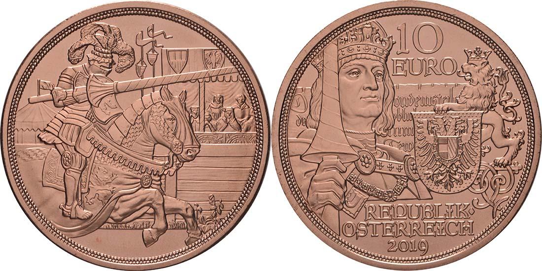Lieferumfang:Österreich : 10 Euro Ritterlichkeit  2019 bfr