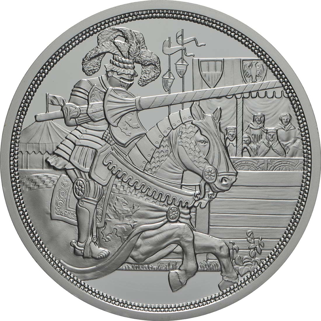 Vorderseite:Österreich : 10 Euro Ritterlichkeit - farbig  2019 PP