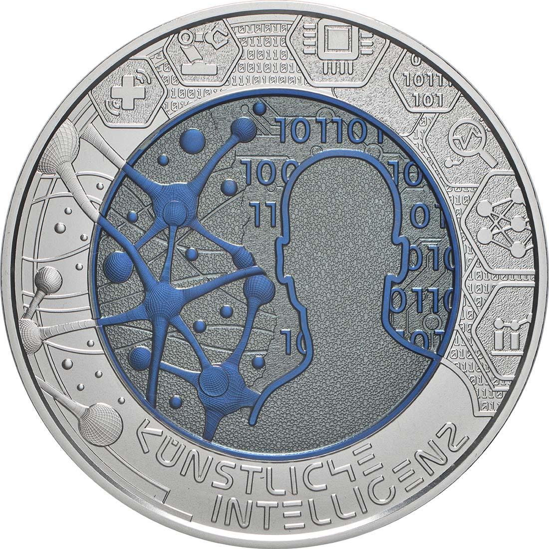 Vorderseite:Österreich : 25 Euro Künstliche Intelligenz  2019 Stgl.