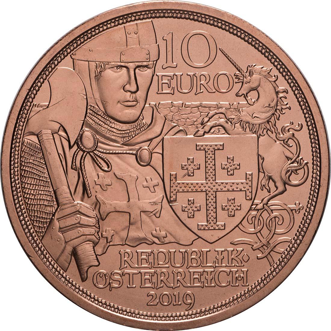 Rückseite:Österreich : 10 Euro Abenteuer  2019 bfr