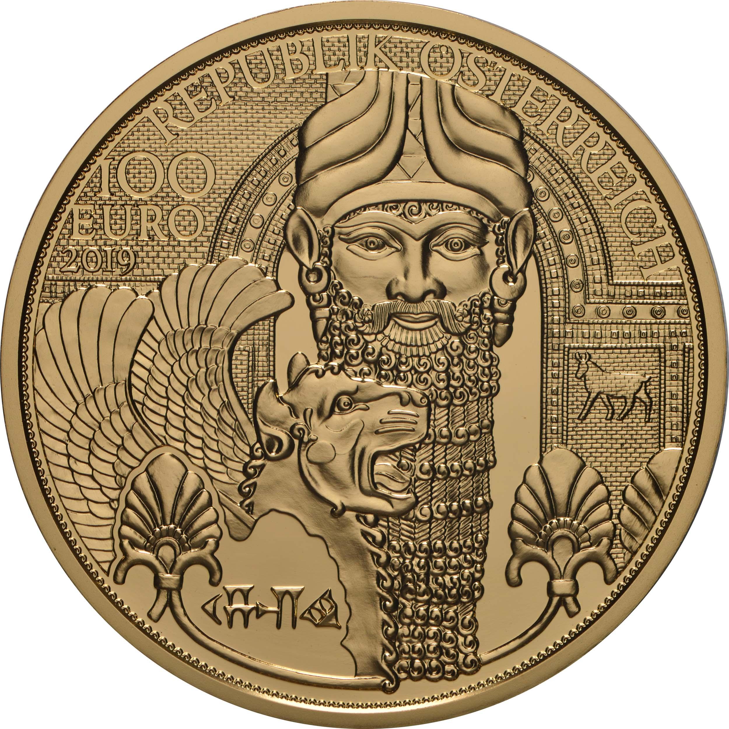 Vorderseite:Österreich : 100 Euro Das Gold Mesopotamiens  2019 PP