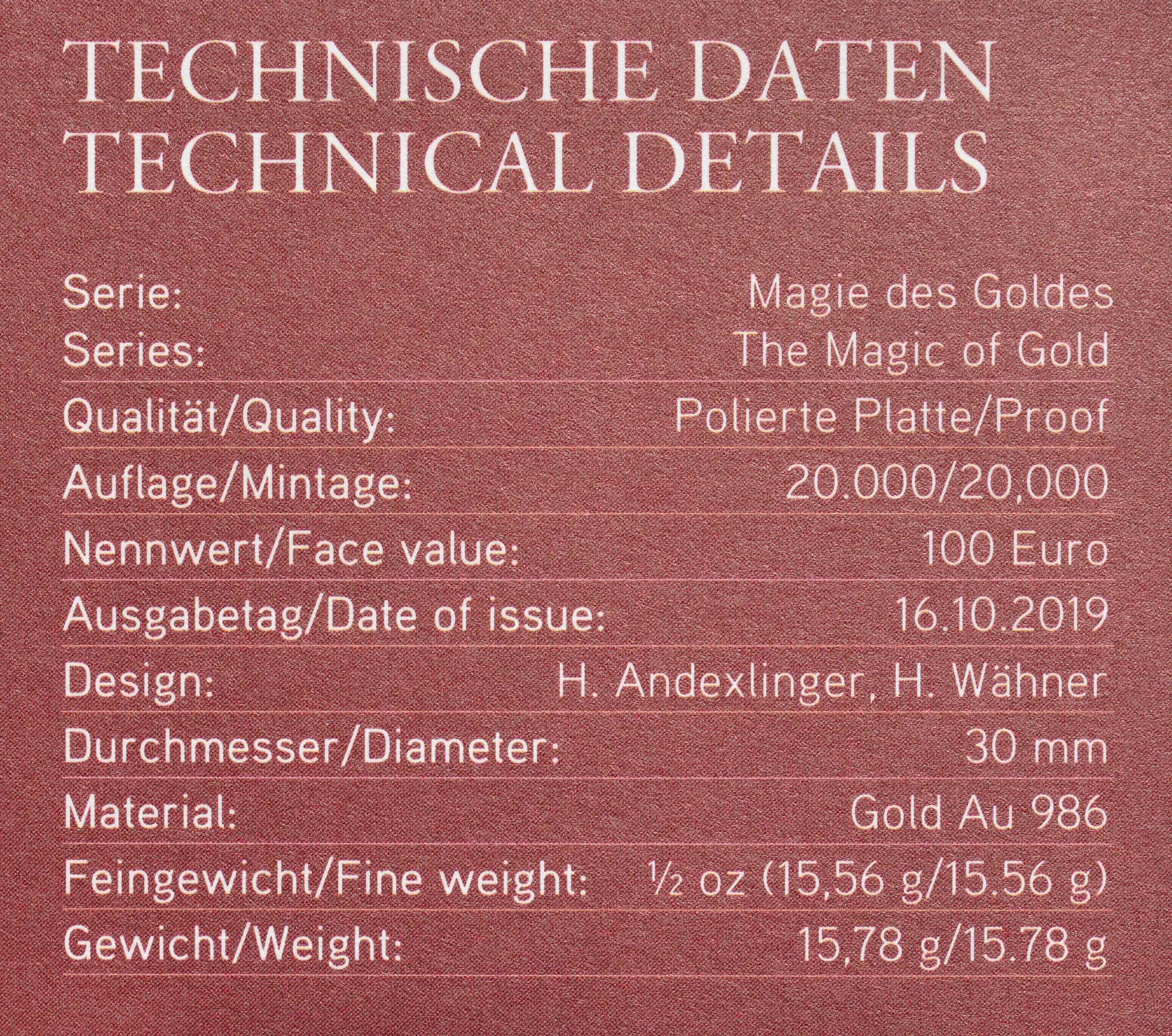 Zertifikat:Österreich : 100 Euro Das Gold Mesopotamiens  2019 PP