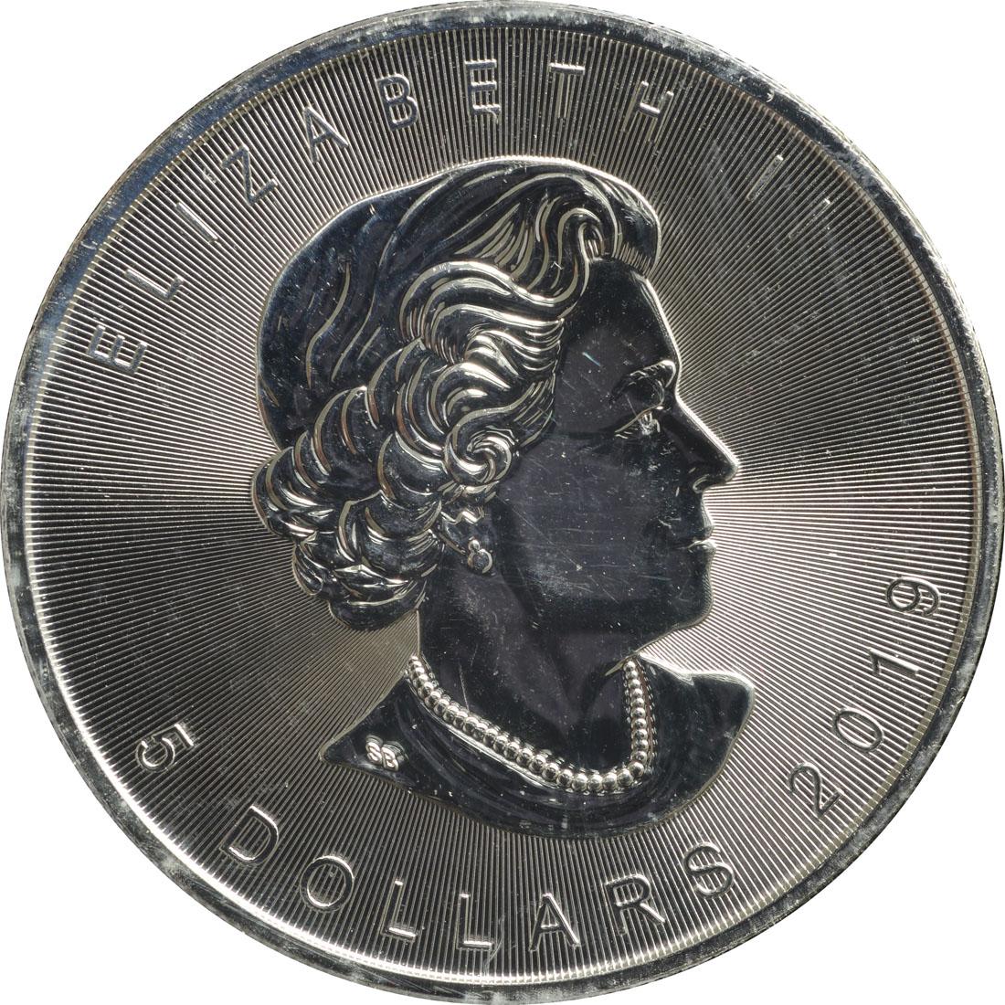 "Rückseite:Kanada : 5 Dollar ML - Canada´s Wildlife ""Rotfuchs""  2019 Stgl."