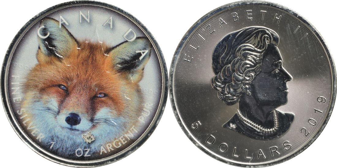 "Lieferumfang:Kanada : 5 Dollar ML - Canada´s Wildlife ""Rotfuchs""  2019 Stgl."