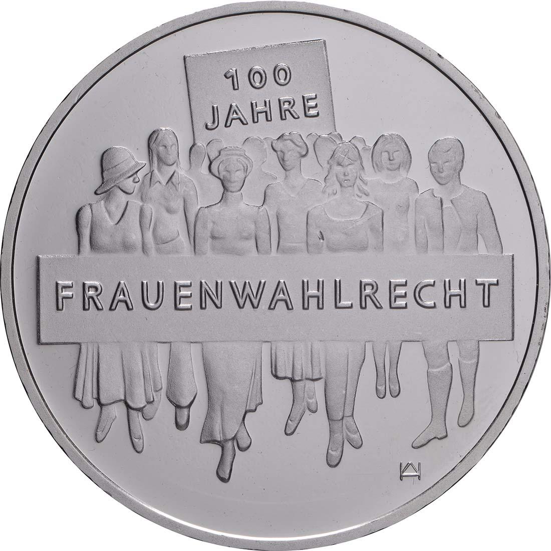 Vorderseite:Deutschland : 20 Euro 100 Jahre Frauenwahlrecht  2019 bfr