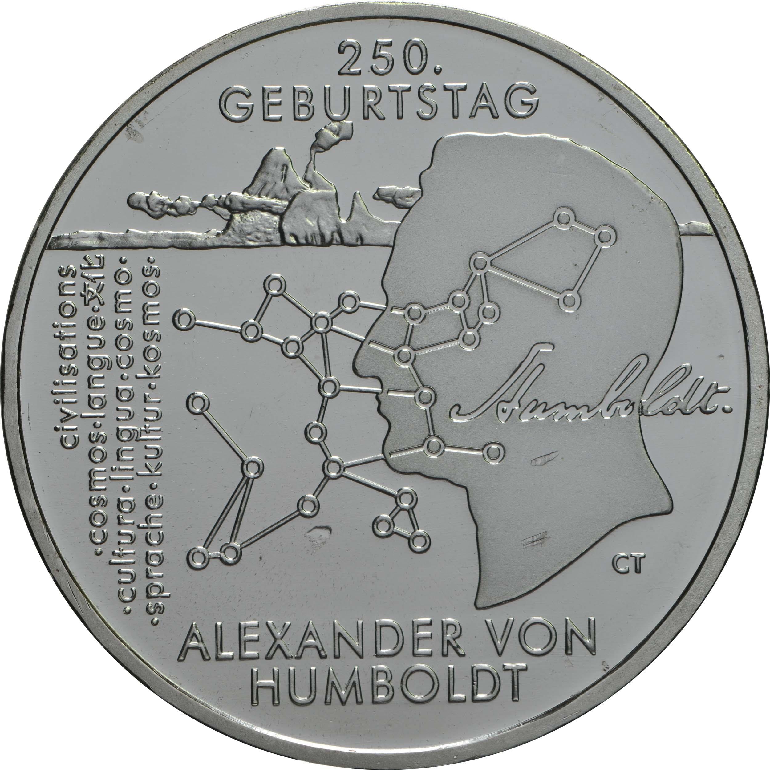 Vorderseite:Deutschland : 20 Euro 250. Geburtstag Alexander von Humboldt  2019 bfr
