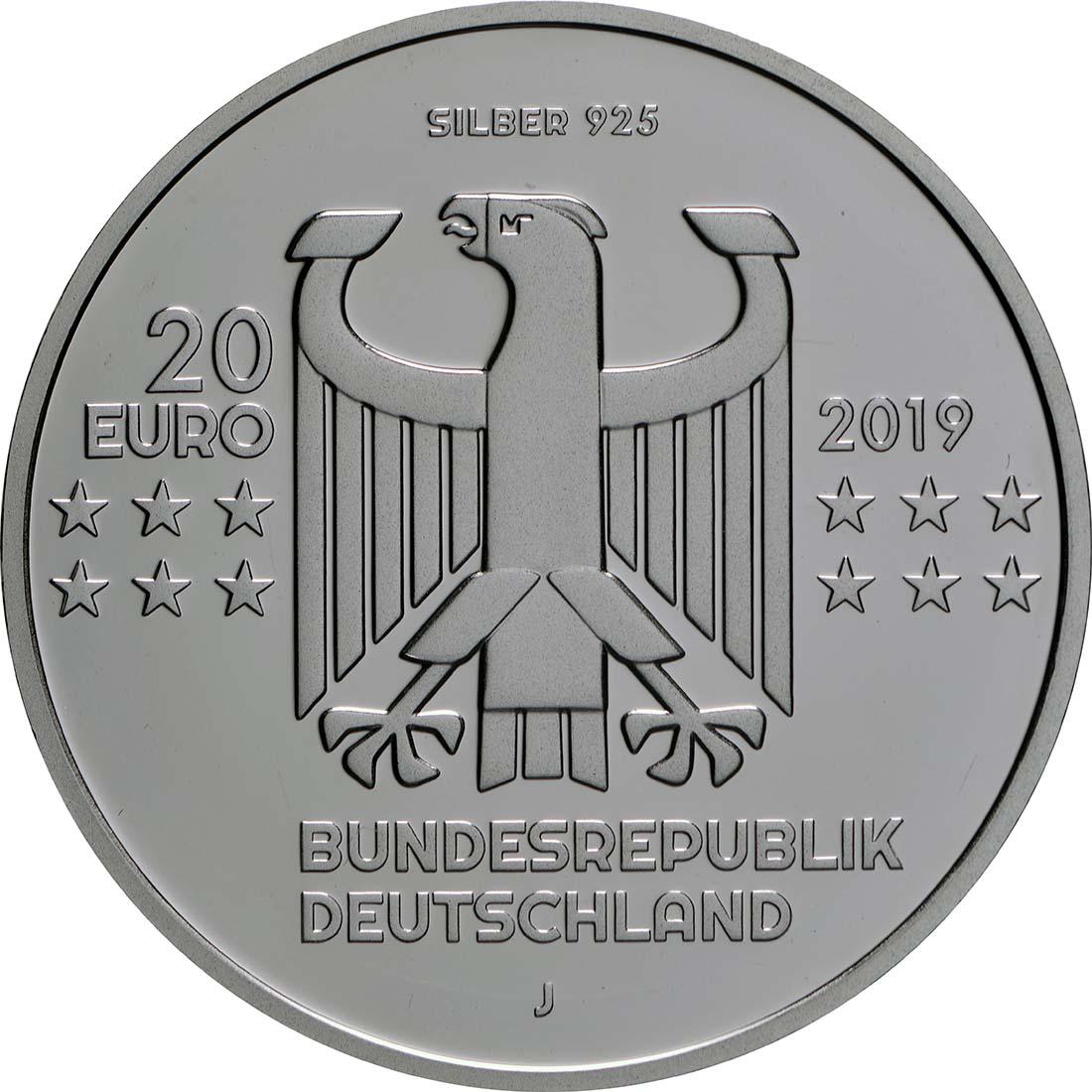 Rückseite:Deutschland : 20 Euro 100 Jahre Bauhaus  2019 PP