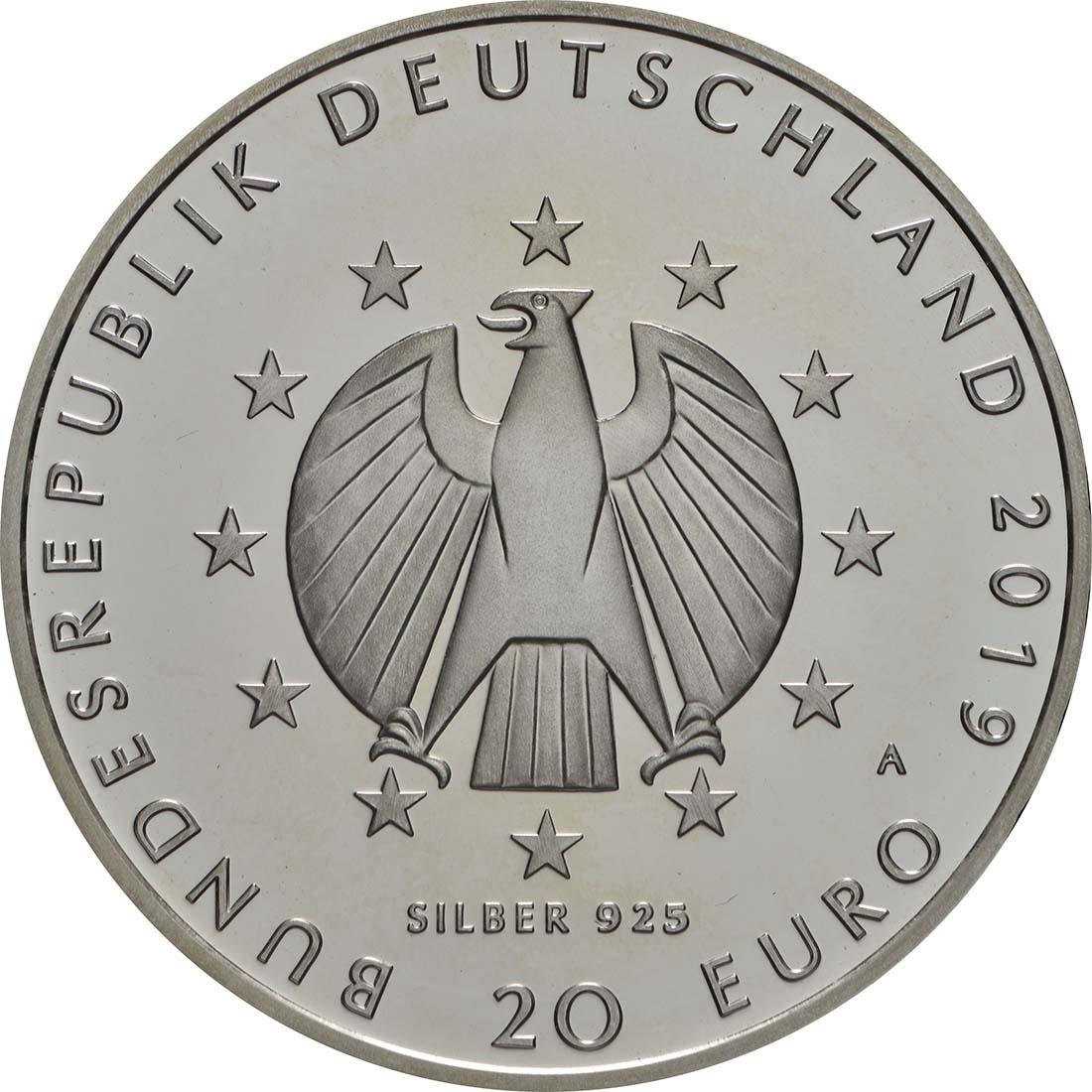 Rückseite:Deutschland : 20 Euro 100 Jahre Weimarer Reichsverfassung  2019 PP