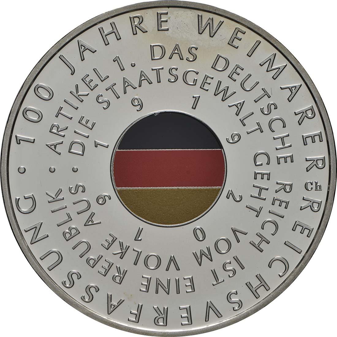Vorderseite:Deutschland : 20 Euro 100 Jahre Weimarer Reichsverfassung  2019 PP