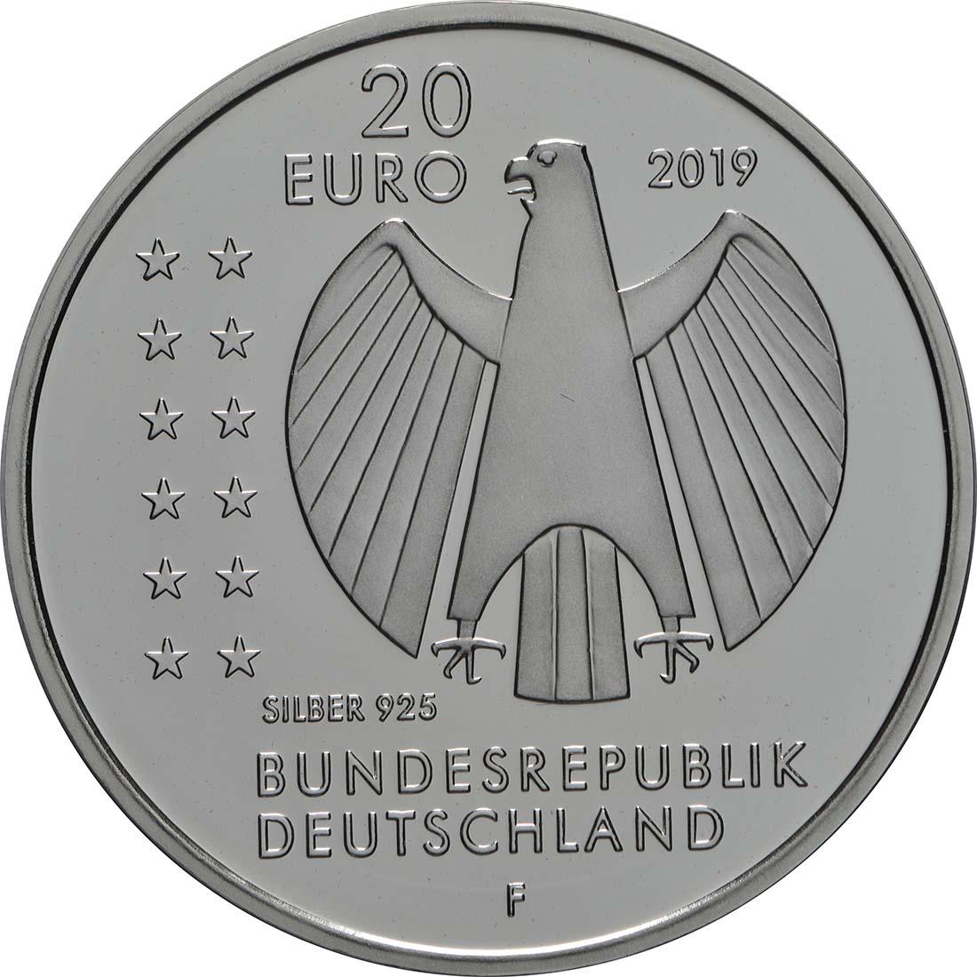 Rückseite:Deutschland : 20 Euro 250. Geburtstag Alexander von Humboldt  2019 PP