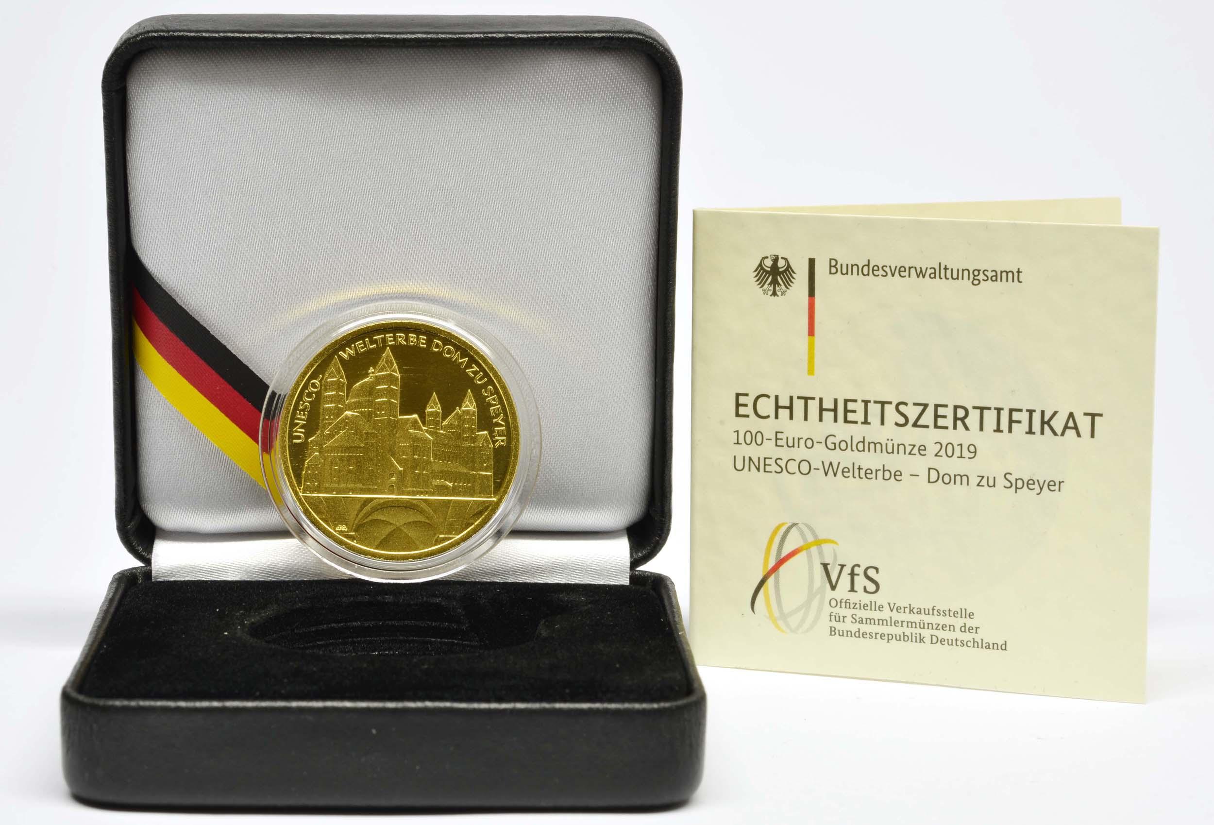 Lieferumfang:Deutschland : 100 Euro Dom zu Speyer - Buchstabe unserer Wahl  2019 Stgl.