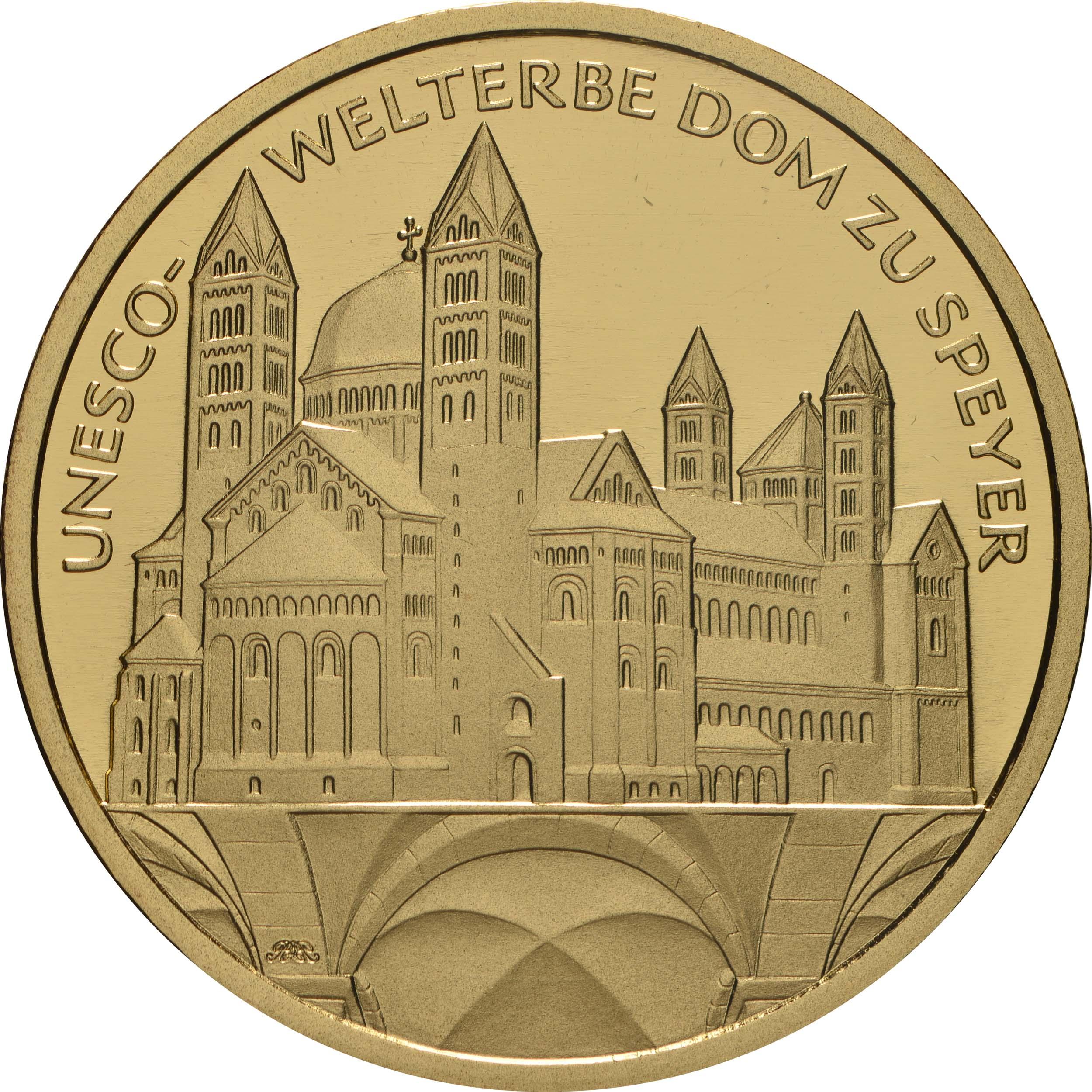 Vorderseite:Deutschland : 100 Euro Dom zu Speyer - Buchstabe unserer Wahl  2019 Stgl.
