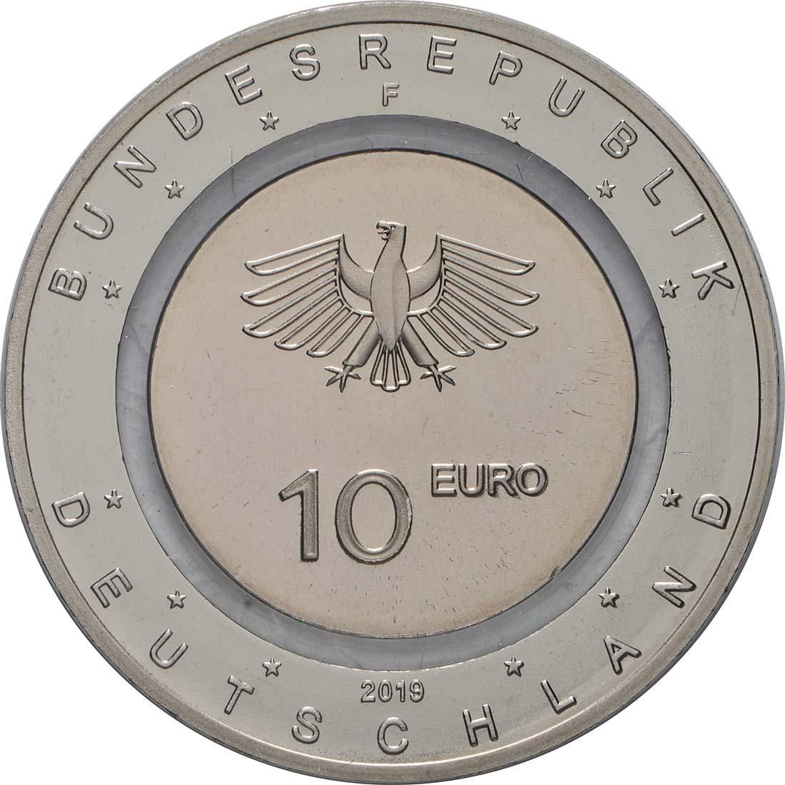 Rückseite:Deutschland : 10 Euro In der Luft - Buchstabe unserer Wahl  2019 bfr