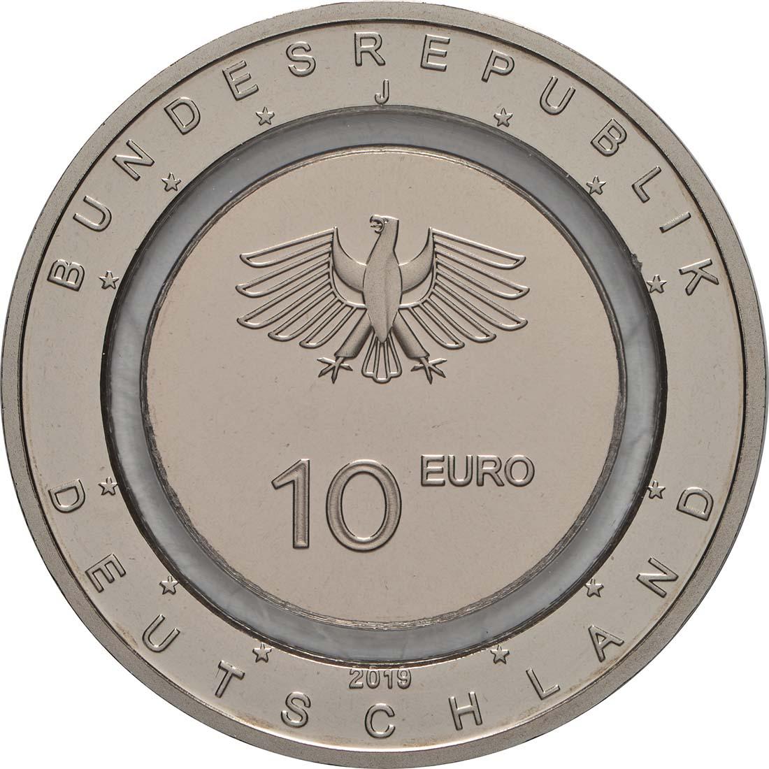 Rückseite:Deutschland : 10 Euro In der Luft - Buchstabe unserer Wahl  2019 PP