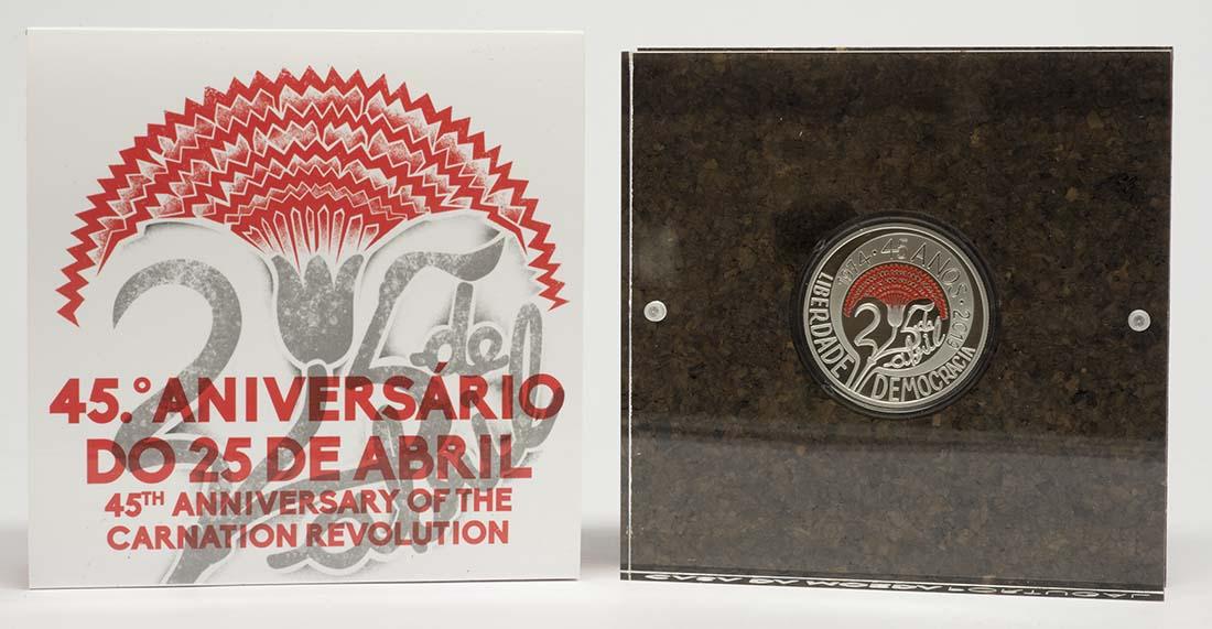 Lieferumfang:Portugal : 5 Euro 45 Jahre Nelkenrevolution  2019 PP