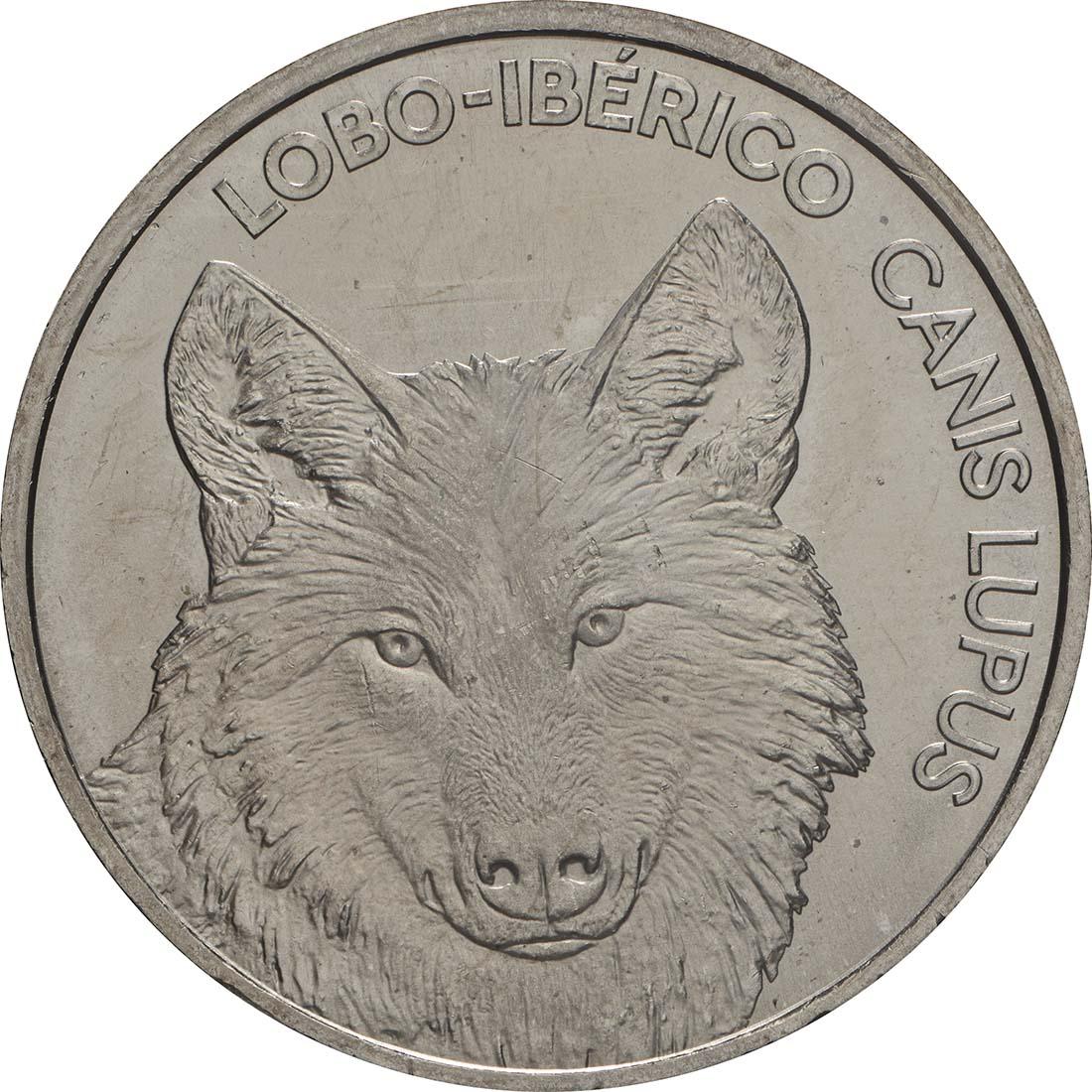 Vorderseite:Portugal : 5 Euro Iberischer Wolf  2019 bfr