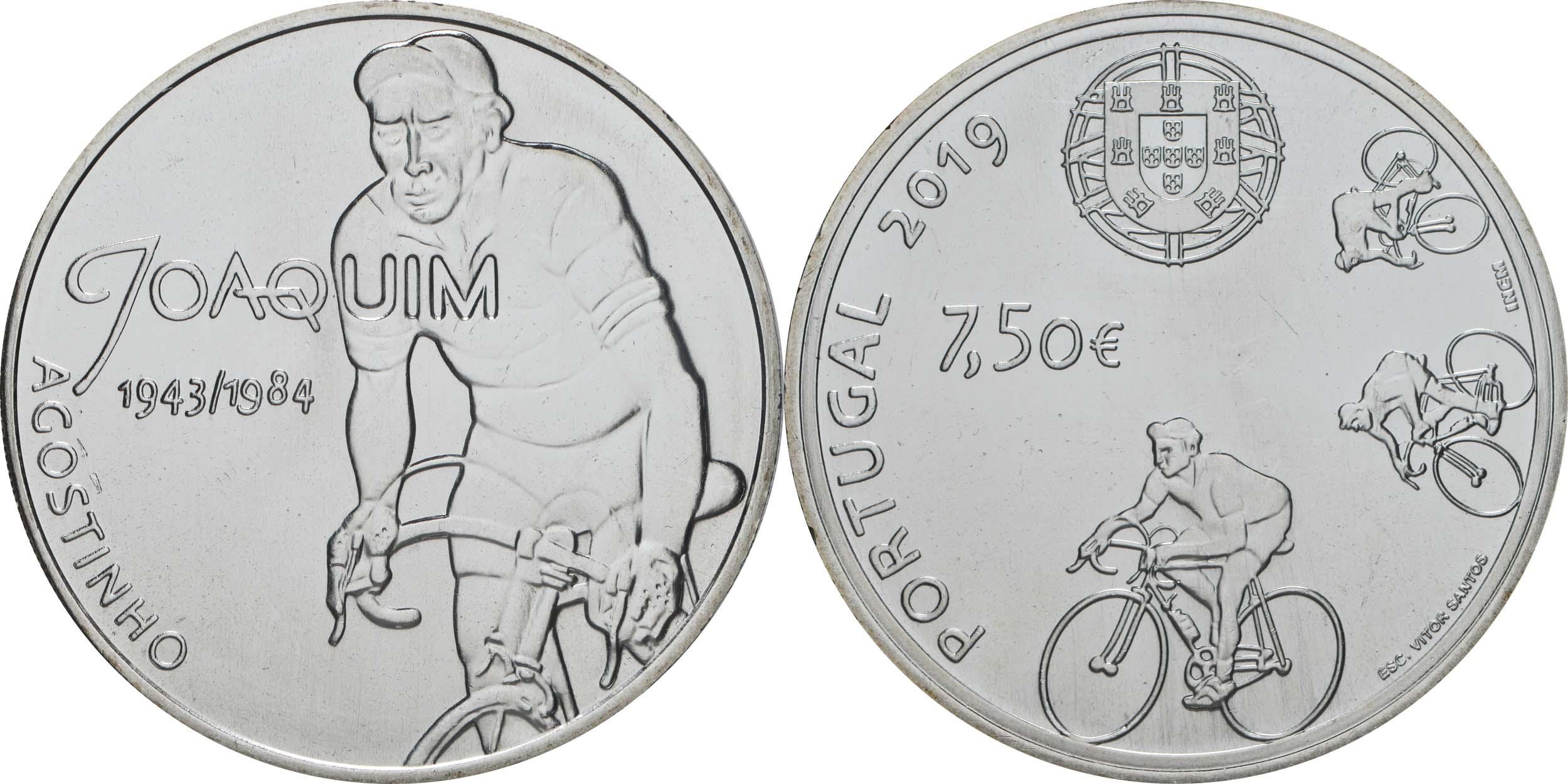Lieferumfang:Portugal : 7,5 Euro Joaquim Agostinho  2019 bfr