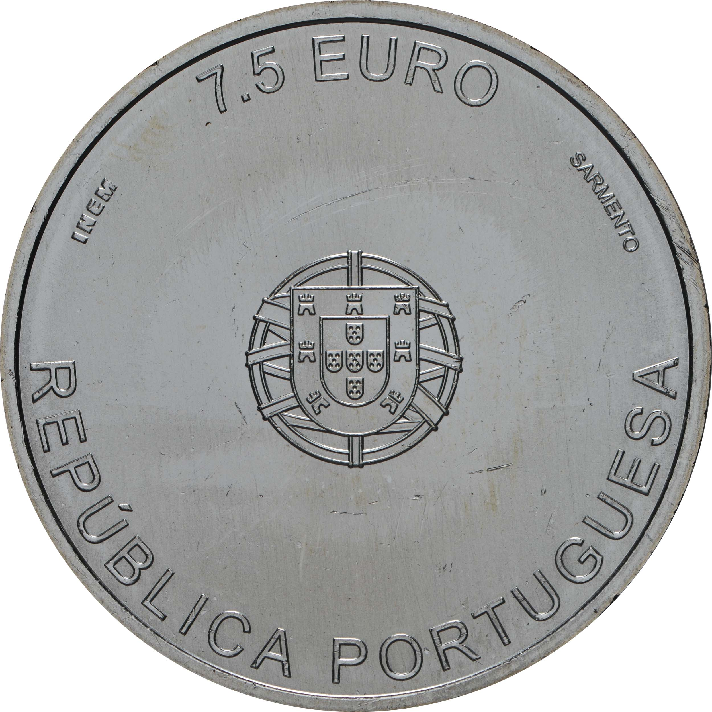Rückseite:Portugal : 7,5 Euro Carrilho Da Graca  2019 bfr
