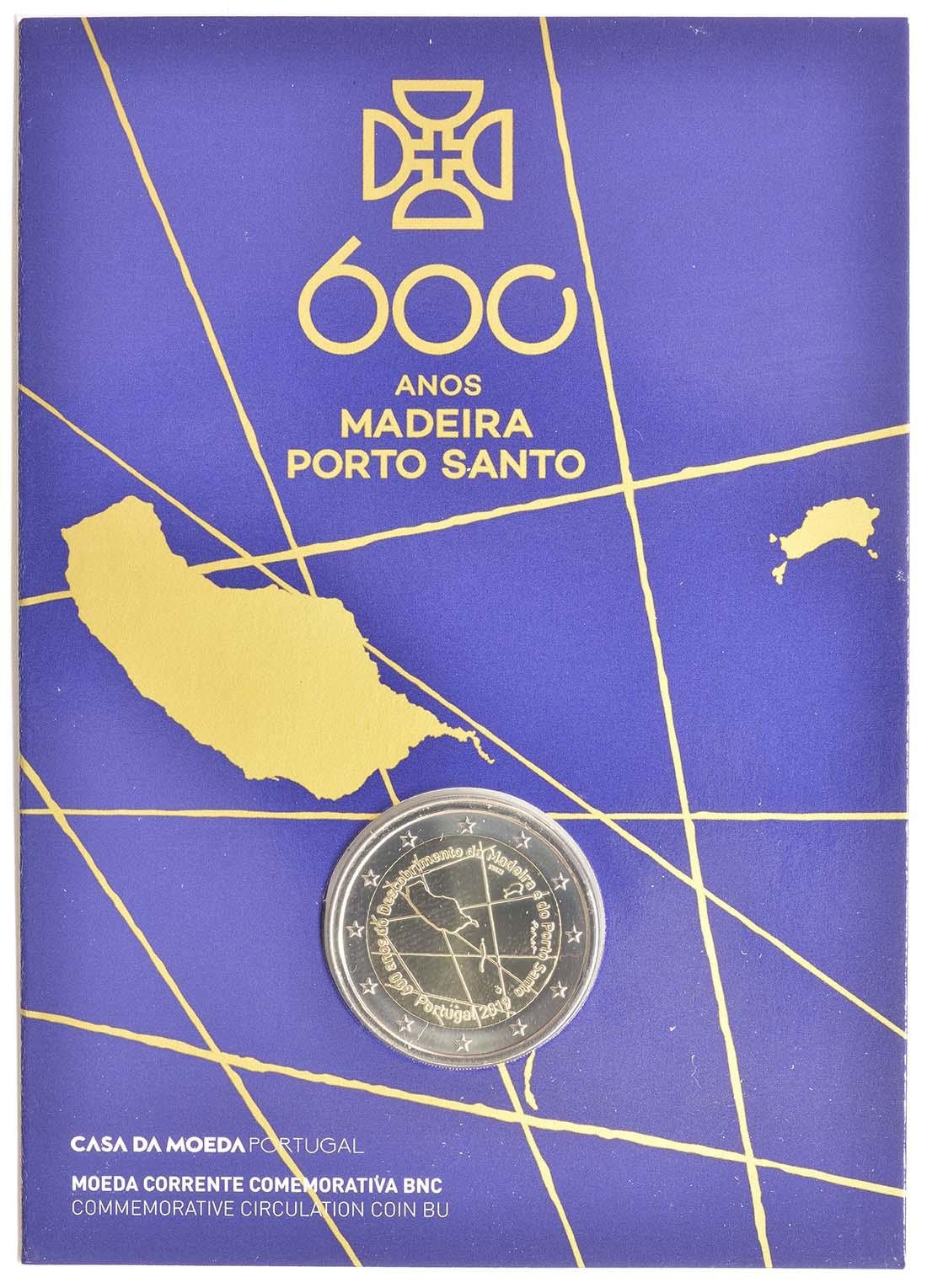 Lieferumfang:Portugal : 2 Euro 600. Jahrestag der Entdeckung der Insel Madeira  2019 Stgl.