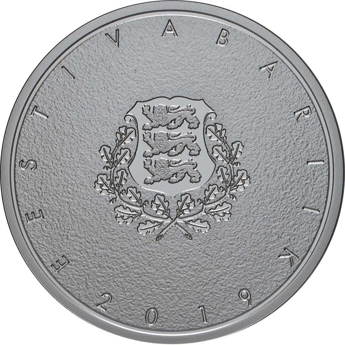 Rückseite:Estland : 12 Euro 200. Geburtstag Johann Voldemar Jannsen  2019 PP