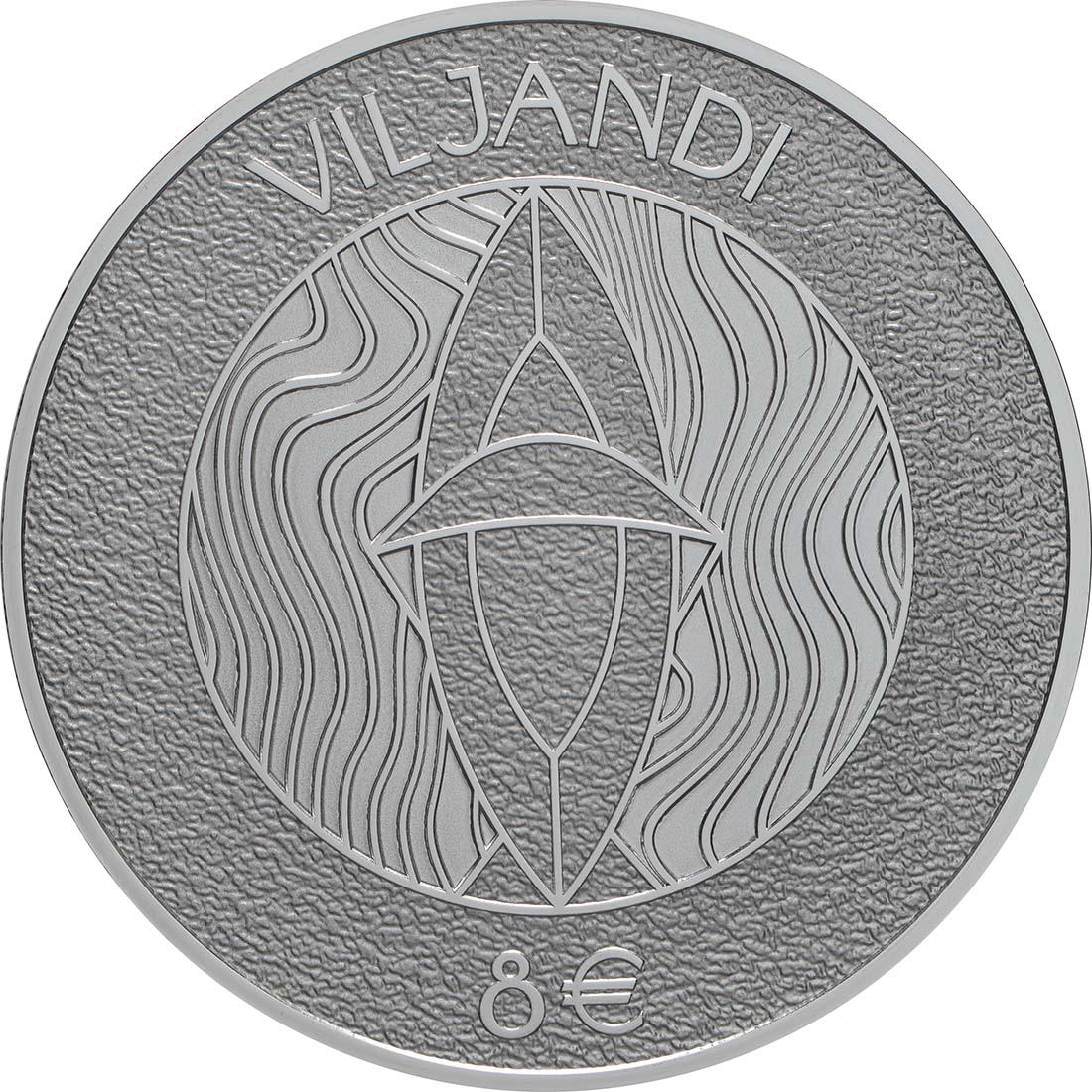 Vorderseite:Estland : 8 Euro Hansestadt Viljandi  2019 PP