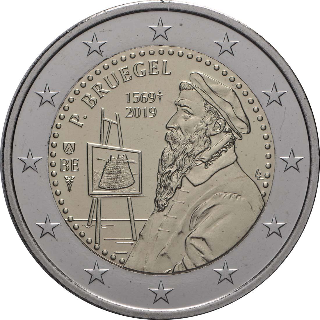 Rückseite:Belgien : 2 Euro 450 Jahre Pieter Bruegel der Ältere  2019 bfr