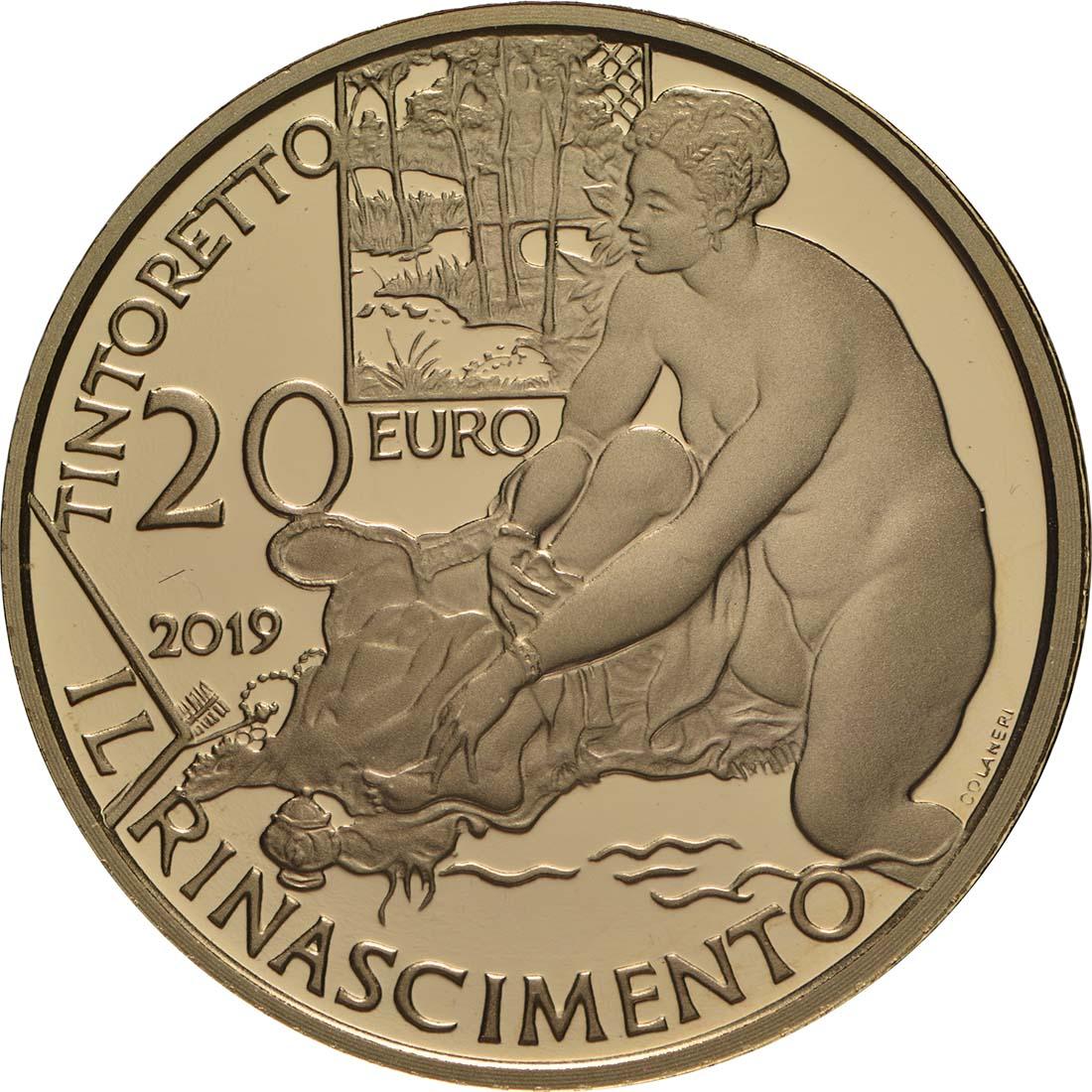 Vorderseite:Italien : 20 Euro Renaissance  2019 PP