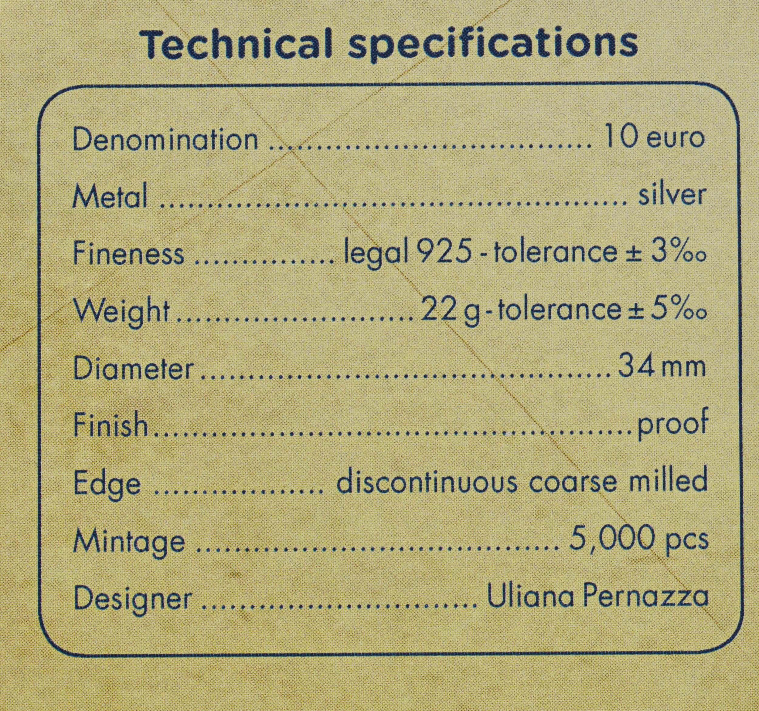 Zertifikat:Italien : 10 Euro Christoph Kolumbus - vergoldet  2019 PP
