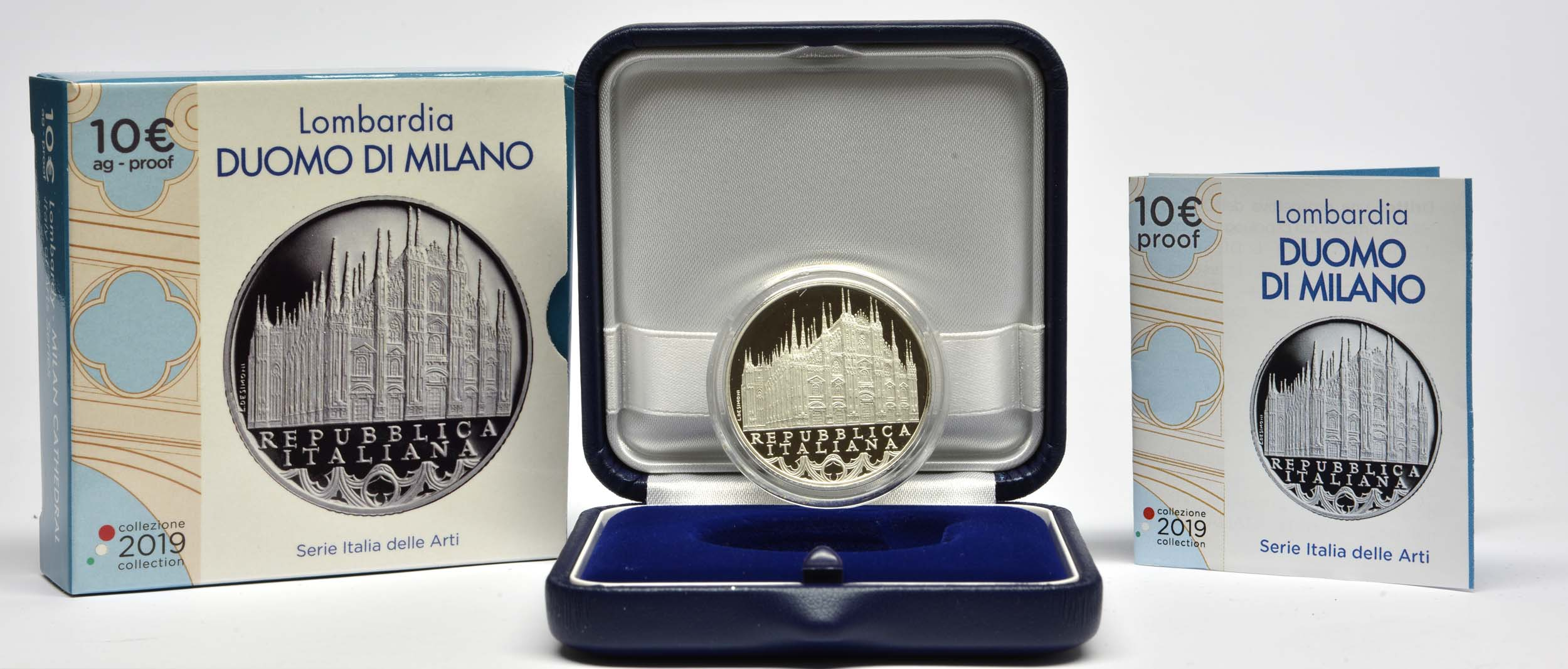 Lieferumfang:Italien : 10 Euro Lombardei - Mailänder Dom  2019 PP