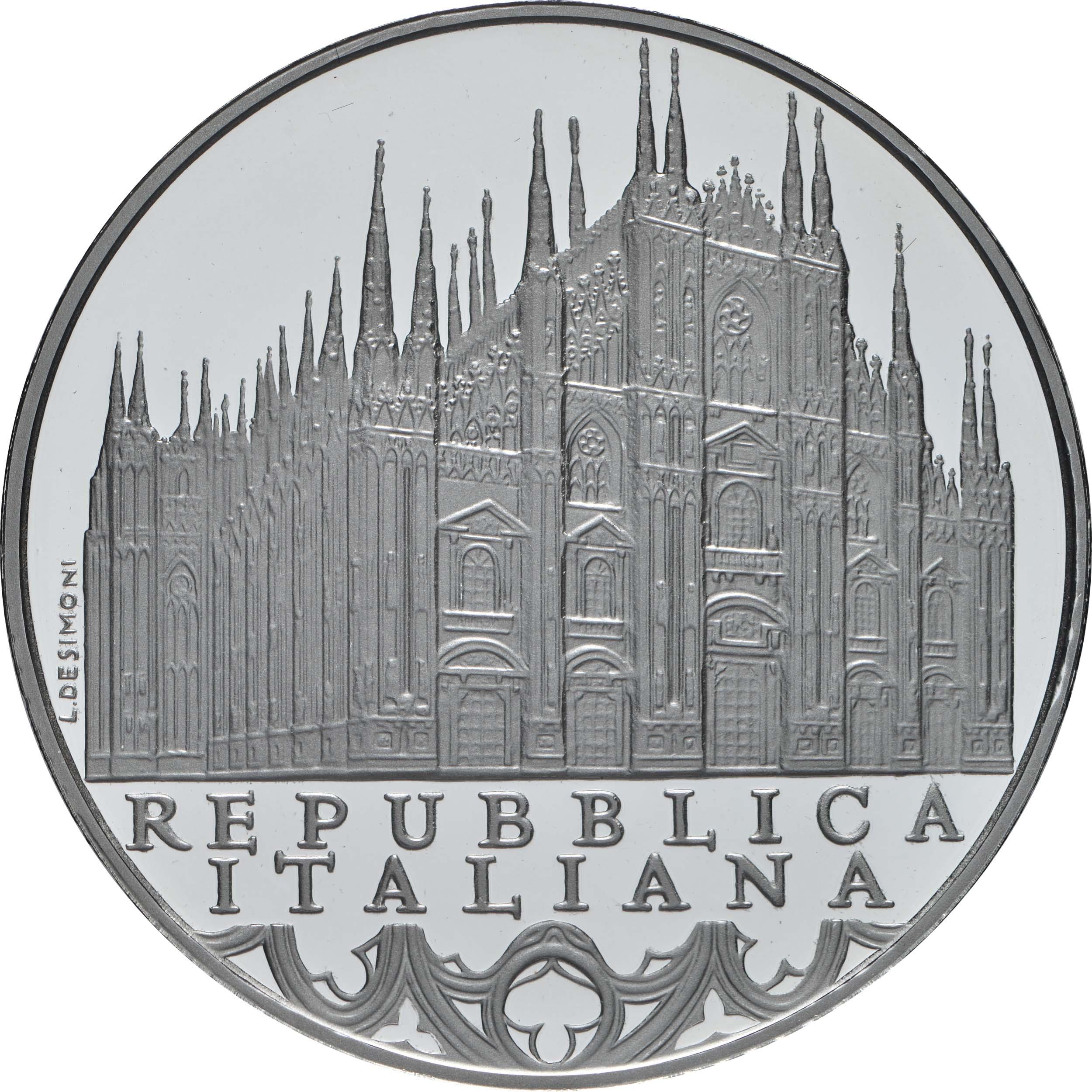 Vorderseite:Italien : 10 Euro Lombardei - Mailänder Dom  2019 PP