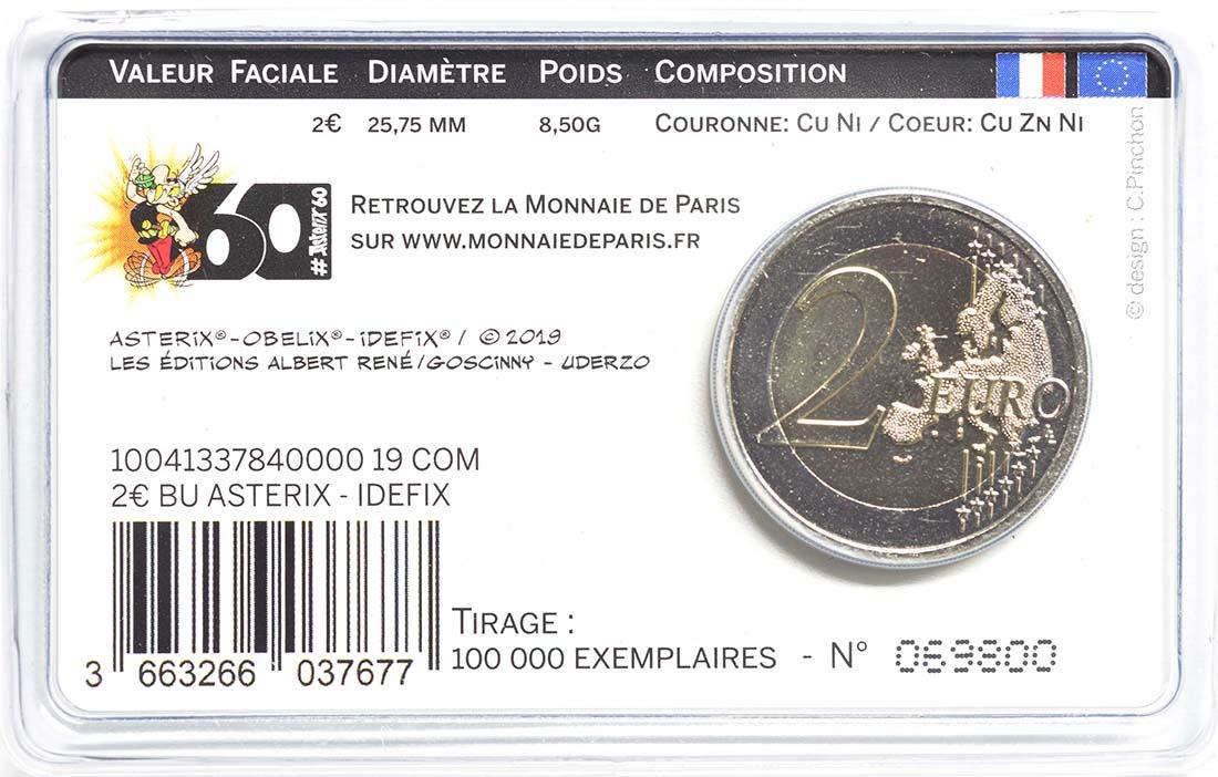 Zertifikat:Frankreich : 2 Euro Asterix und Idefix  2019 Stgl.