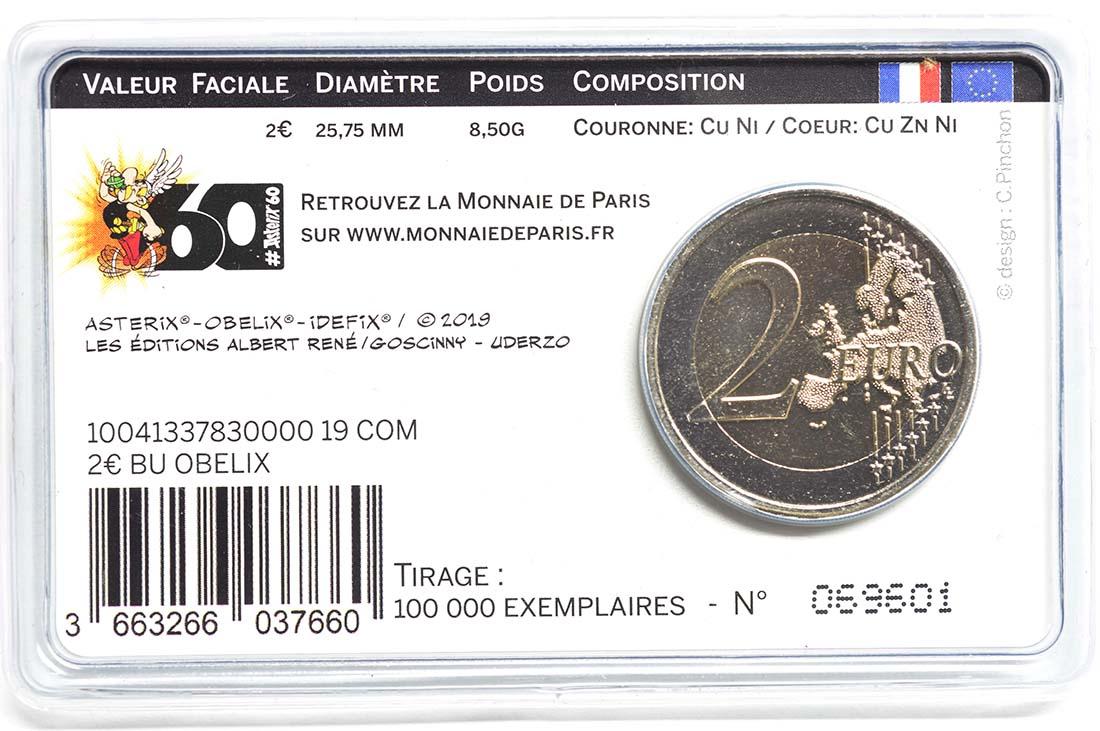 Zertifikat:Frankreich : 2 Euro Obelix  2019 Stgl.