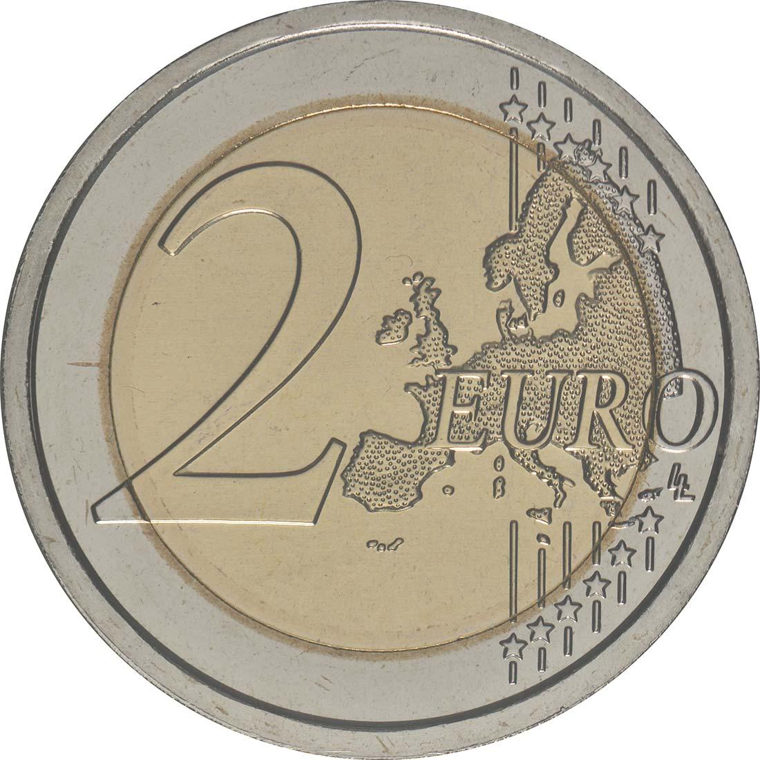 Vorderseite:San Marino : 2 Euro 500. Jahrestag des Todes von Leonardo da Vinci  2019 Stgl.