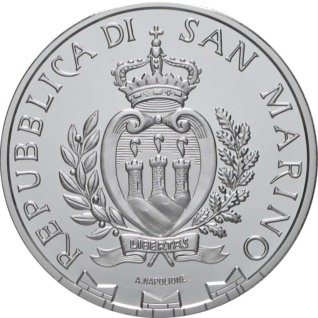 Rückseite:San Marino : 10 Euro 550. Todestag Rembrandt  2019 PP