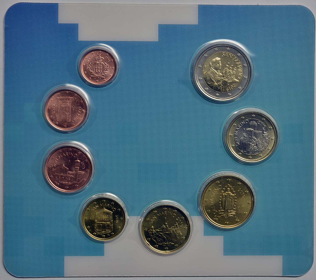 Vorderseite:San Marino : 3,88 Euro KMS San Marino  2019 Stgl.