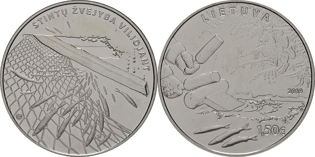 Lieferumfang:Litauen : 1,5 Euro Stint - Angeln durch Anlocken  2019 bfr