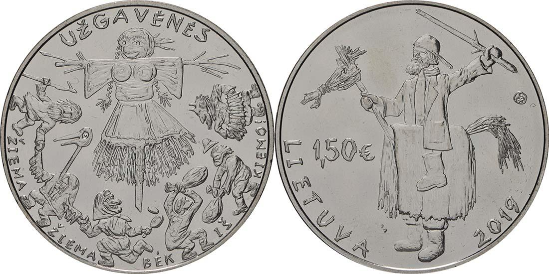 Lieferumfang:Litauen : 1,5 Euro Winterende - Uzgavenes  2019 bfr