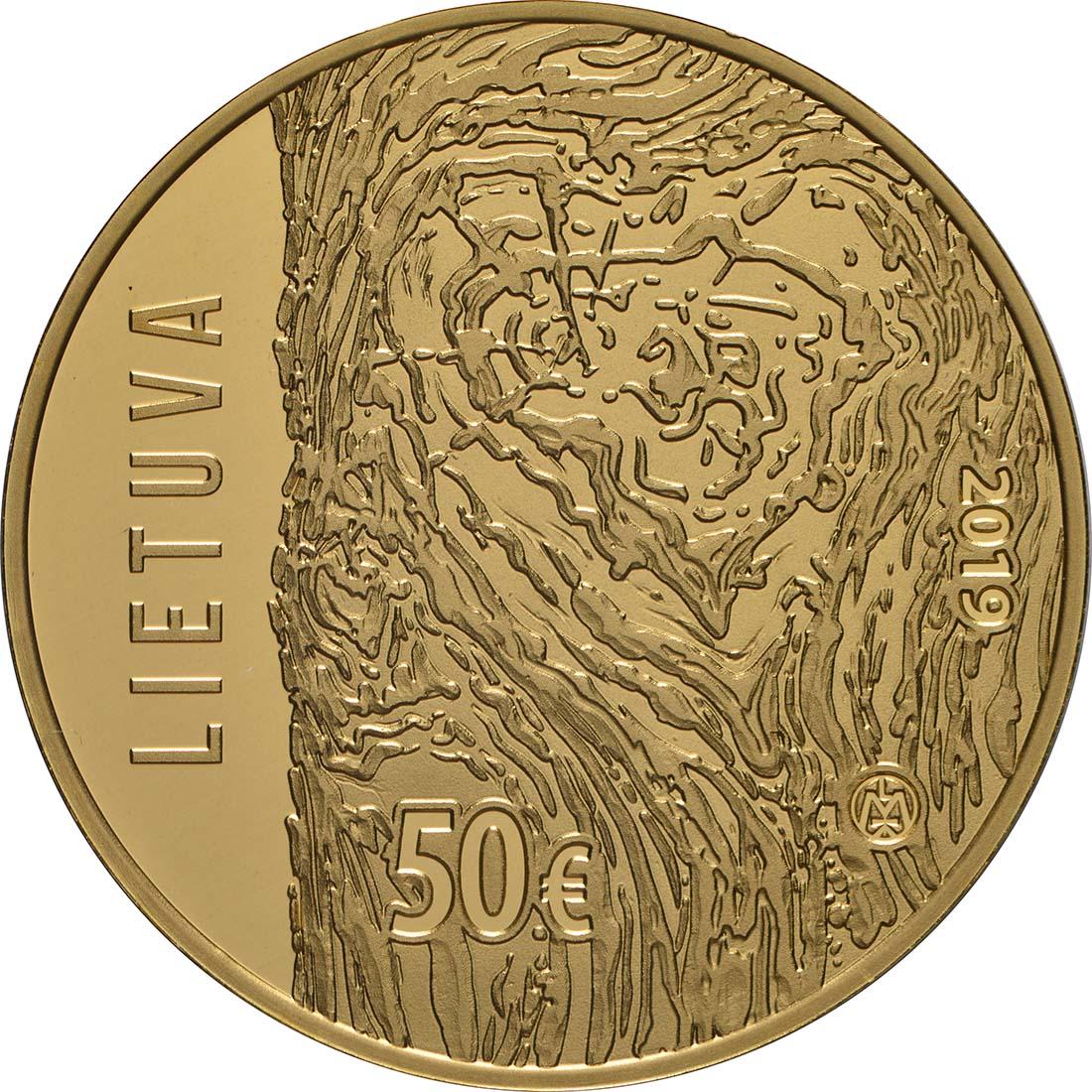 Rückseite:Litauen : 50 Euro Friedensbewegung  2019 PP